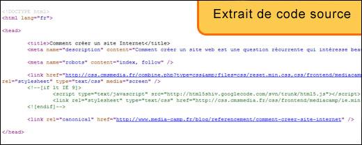 Extrait de code source