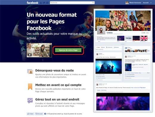 Comment activer la Timeline Facebook pour les pages