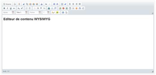 Editeur WYSIWYG pour CMS